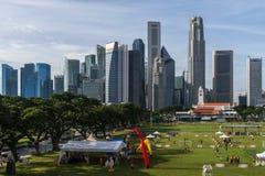 新加坡地平线视图 免版税库存照片