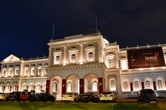 新加坡夜射击国家博物馆  免版税库存照片