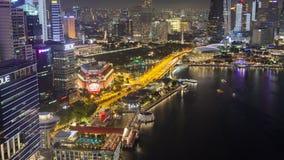 新加坡夜街市核心天线定期流逝 影视素材