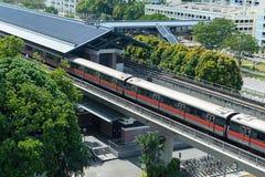 新加坡大量高速运输MRT火车旅行 库存图片