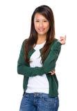 新加坡妇女微笑 免版税库存图片