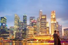 新加坡婚礼 免版税库存照片