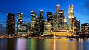 新加坡小游艇船坞海湾商业区 免版税库存图片