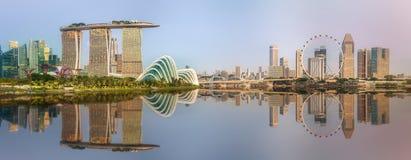 新加坡小游艇船坞海湾地平线和看法  免版税库存图片