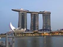 新加坡小游艇船坞海湾 免版税图库摄影