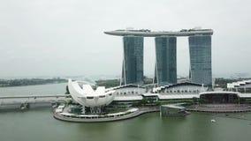 新加坡小游艇船坞BBay鸟瞰图  影视素材