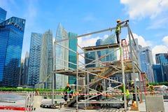 新加坡工作者 免版税图库摄影