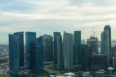 新加坡市地平线看法  免版税库存图片