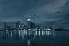 新加坡市地平线 免版税库存照片