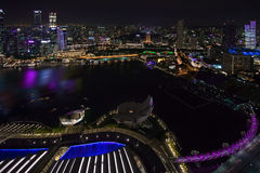 新加坡市地平线 库存图片