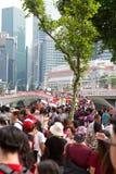 新加坡庆祝SG50国庆节 免版税库存图片