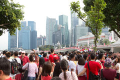 新加坡庆祝SG50国庆节 免版税库存照片