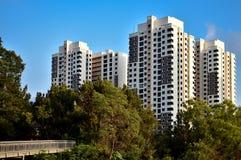 新加坡建屋发展局公共住房 免版税库存照片