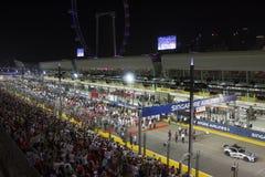 新加坡惯例1主要raceday 库存照片