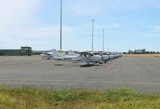 新加坡拥有新加坡技术航空航天学院训练单独,并且它的商业平实飞行员是基本的在Ballarat 库存图片