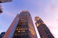 新加坡摩天大楼。 库存图片