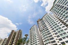 新加坡政府公寓 库存照片
