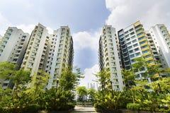 新加坡政府公寓 免版税库存照片