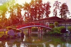 新加坡日本人庭院 免版税库存照片