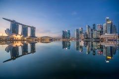 新加坡早晨城市地平线 免版税库存照片