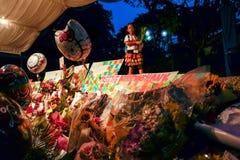 新加坡李光耀先生过世了2015年3月23日 库存照片