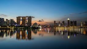 新加坡河 库存图片