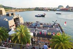 在RSS的Sikorsky S-70b强悍在海军家庭招待会2013年 库存照片