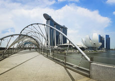 新加坡海滨广场海湾铺沙全景亚洲 库存照片