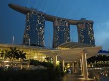 新加坡海滨广场海湾铺沙旅馆 库存图片