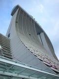 新加坡海滨广场海湾铺沙旅馆 免版税图库摄影