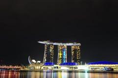 新加坡海滨广场海湾铺沙03 库存图片