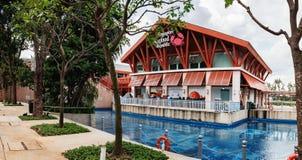 新加坡海鲜共和国在圣淘沙海岛 免版税库存图片