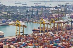 新加坡港  免版税图库摄影