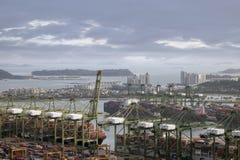 新加坡港  免版税库存照片