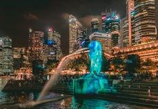 新加坡现代大都会摩天大楼地平线 免版税图库摄影