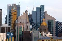 新加坡现代摩天大楼 库存图片
