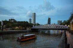 新加坡的晚上视图劈裂 免版税库存图片
