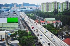 新加坡的高速公路 免版税图库摄影