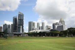 新加坡街市核心区  免版税库存照片