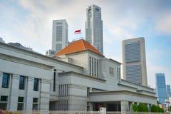 新加坡议会大厦  库存照片
