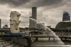 新加坡象, merlion 免版税库存照片