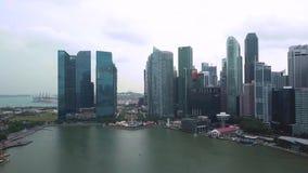 新加坡路辗摩天大楼鸟瞰图  影视素材