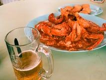 新加坡辣椒螃蟹 免版税图库摄影