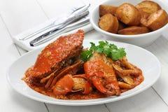 新加坡辣椒螃蟹 免版税库存图片