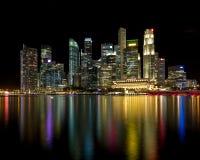 新加坡颜色CBD 免版税库存照片