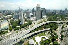 从新加坡飞行物的风景 库存图片