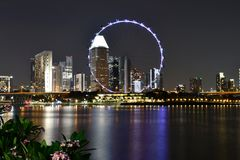 新加坡飞行物2018年 库存照片
