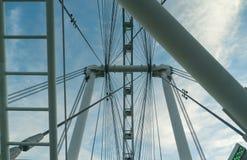 新加坡飞行物-第二大弗累斯大转轮在世界上 库存照片