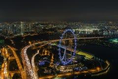 新加坡飞行物 免版税图库摄影