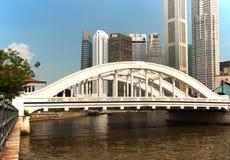 新加坡,在埃尔金桥梁的看法 免版税库存照片